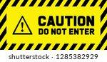 stop signs do not enter danger...   Shutterstock .eps vector #1285382929