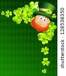beautiful happy leprechaun... | Shutterstock .eps vector #128538350