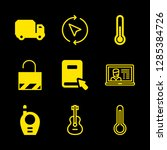 9 object icons with thermometer ... | Shutterstock .eps vector #1285384726