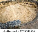 buried pig roast at luau   Shutterstock . vector #1285389586