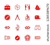adventure icons set with... | Shutterstock .eps vector #1285389670