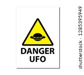ufo unknown flying object... | Shutterstock .eps vector #1285395949