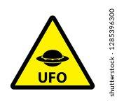 ufo unknown flying object... | Shutterstock .eps vector #1285396300
