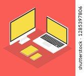 isometric computer  laptop ...