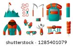 set of tools for backpacking....   Shutterstock .eps vector #1285401079