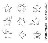 star icon. set of stars line... | Shutterstock .eps vector #1285408360