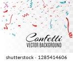 colorful bright confetti... | Shutterstock .eps vector #1285414606