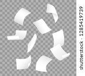 simple vector of falling white...   Shutterstock .eps vector #1285419739