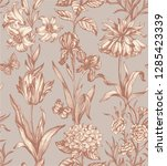 botanical victorian seamless... | Shutterstock .eps vector #1285423339