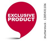 red vector bubble banner... | Shutterstock .eps vector #1285431106