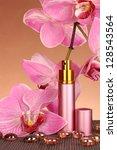 women's perfume in beautiful... | Shutterstock . vector #128543564