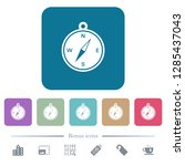 compass white flat icons on... | Shutterstock .eps vector #1285437043