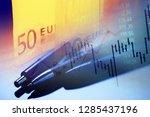 euro banknotes. selective focus.   Shutterstock . vector #1285437196