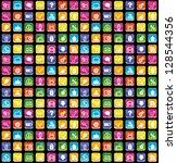 smartphone app icons seamless... | Shutterstock .eps vector #128544356