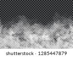 smoke clouds on transparent... | Shutterstock .eps vector #1285447879