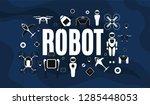 modern robotic set vector... | Shutterstock .eps vector #1285448053