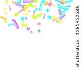 sprinkles grainy. sweet... | Shutterstock .eps vector #1285452586