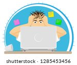 upset or frightened man at the... | Shutterstock .eps vector #1285453456
