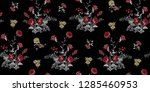 seamless floral pattern in... | Shutterstock .eps vector #1285460953