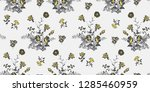 seamless floral pattern in... | Shutterstock .eps vector #1285460959