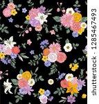 flower seamless pattern for... | Shutterstock .eps vector #1285467493