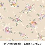 flower seamless pattern for... | Shutterstock .eps vector #1285467523