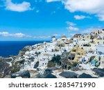 santorini island  greece  ... | Shutterstock . vector #1285471990