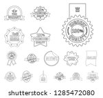 isolated object of  and  logo.... | Shutterstock .eps vector #1285472080