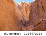 bedouins on the trail in the... | Shutterstock . vector #1285472116