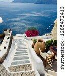 santorini island  greece  ... | Shutterstock . vector #1285472413