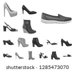 isolated object of footwear and ... | Shutterstock .eps vector #1285473070