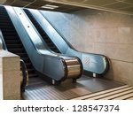 empty escalator stairs in the... | Shutterstock . vector #128547374