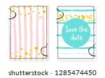bridal shower card with dots... | Shutterstock .eps vector #1285474450