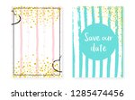 bridal shower set with dots and ... | Shutterstock .eps vector #1285474456