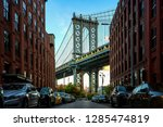 manhattan bridge seen from a... | Shutterstock . vector #1285474819