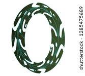 original zero symbol design.... | Shutterstock .eps vector #1285475689