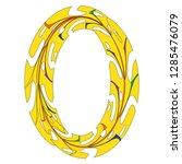 original zero symbol design.... | Shutterstock .eps vector #1285476079