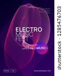 music poster. dynamic gradient... | Shutterstock .eps vector #1285476703