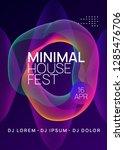 dj event. minimal discotheque... | Shutterstock .eps vector #1285476706