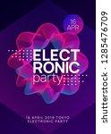 electro event. energy concert... | Shutterstock .eps vector #1285476709
