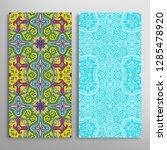vertical seamless patterns set  ... | Shutterstock .eps vector #1285478920