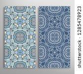 vertical seamless patterns set  ... | Shutterstock .eps vector #1285478923