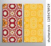 vertical seamless patterns set  ... | Shutterstock .eps vector #1285478929