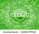 in depth green mosaic emblem | Shutterstock .eps vector #1285479910