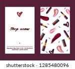 lipstick pattern vector... | Shutterstock .eps vector #1285480096