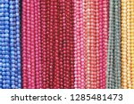 colorful beads background.... | Shutterstock . vector #1285481473