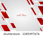 abstract gradient red geometric ... | Shutterstock .eps vector #1285497676