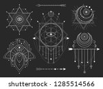 vector set of sacred geometric... | Shutterstock .eps vector #1285514566