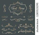 decorative calligraphic... | Shutterstock .eps vector #1285523290