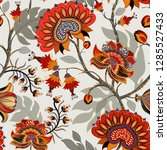 colorful paisley pattern for... | Shutterstock .eps vector #1285527433